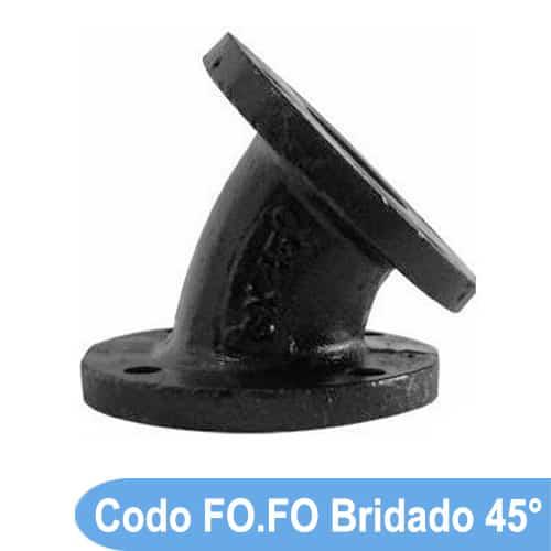 precio codo 45° hierro fundido