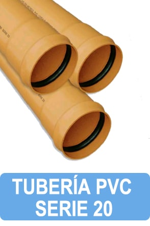 tubo pvc alcantarillado serie 20 precio