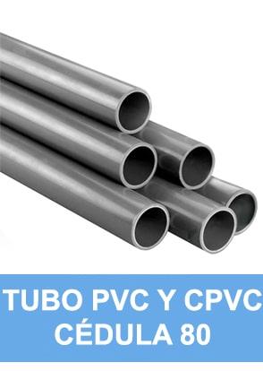 TUBO CPVC Y PVC CEDULA 80