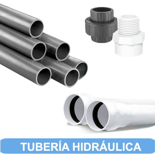 diametros de tuberia de pvc hidraulico